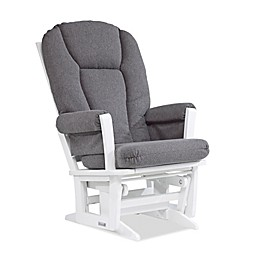 Dutailier® Modern Glider in White/Charcoal