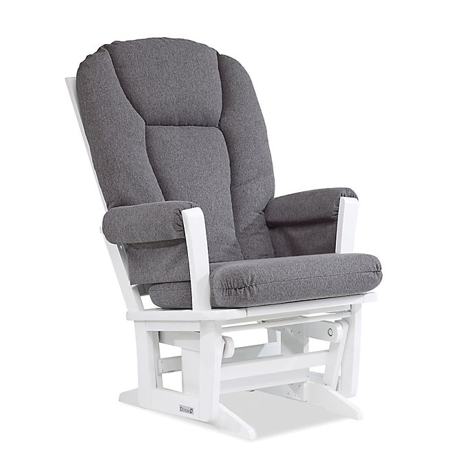 Alternate image 1 for Dutailier® Modern Glider in White/Charcoal