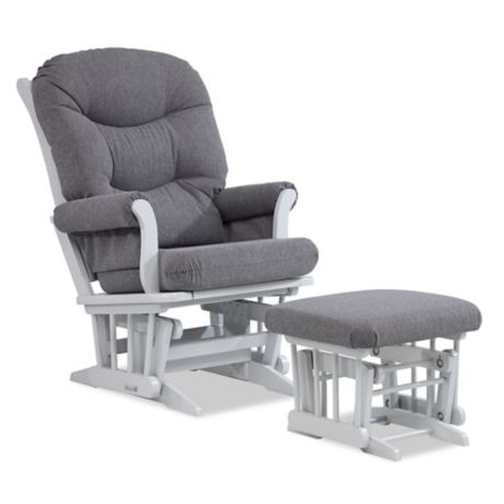 Stupendous Dutailier Multiposition Reclining Sleigh Glider And Ottoman In Grey Charcoal Caraccident5 Cool Chair Designs And Ideas Caraccident5Info