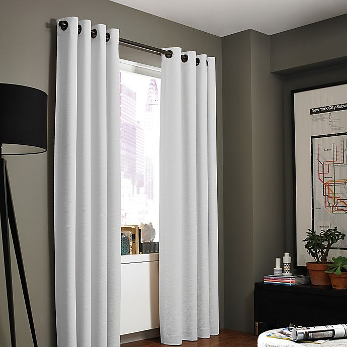 Alternate image 1 for Kenneth Cole Reaction Home Bowery Texture Lined Grommet Window Curtain Panel