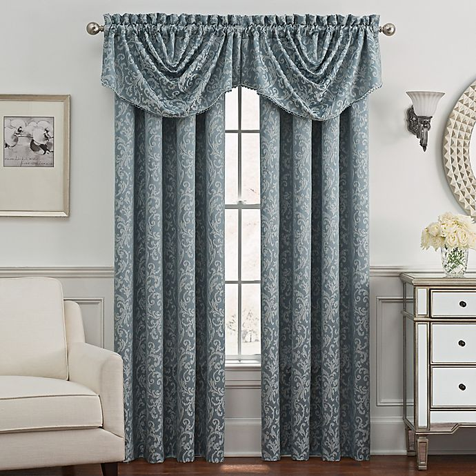 Alternate image 1 for Despina Window Curtain and Trumpet Valance