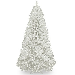National Tree 7-Foot North Valley White Spruce Hinged Tree with Glitter and Clear Lights