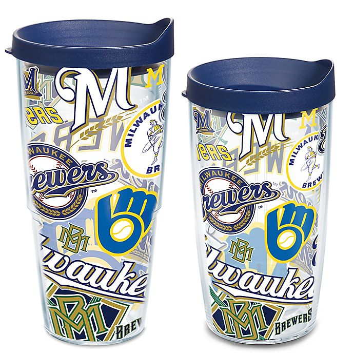 Tervis 174 Mlb Milwaukee Brewers All Over Wrap Tumbler With