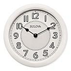 Bulova Quartz Analog with Bluetooth Technology Wall Clock in White