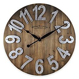 FirsTime® 22.5-Inch Slat Wall Clock in Wood