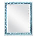 Mosaic Wall Mirror in Blue