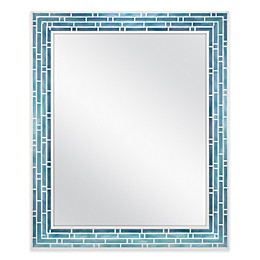 Mosaic Wall Mirror in Blue