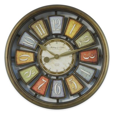 Sterling Amp Noble Open Number Wall Clock In Bronze