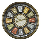 Sterling & Noble Open Number Wall Clock in Bronze/Multicolor