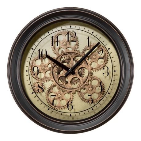 Large Industrial Kensington Station Wall Clock with Raised Numerals