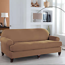 Perfect Fit® Stretch Fit Microsuede 2-Piece T-Cushion Sofa Slipcover