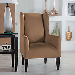 Perfect Fit® Stretch Fit Microsuede Wingback Chair Slipcover