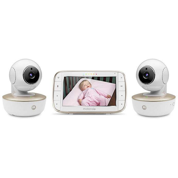 Alternate image 1 for Motorola® MBP855CONNECT-2 5-Inch HD Video Baby Monitor with WiFi and Two Cameras