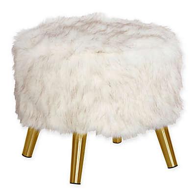 Skyline Furniture Brooker Faux Fur Round Ottoman