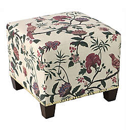 Skyline Furniture Medford Ottoman in Shaana Holiday Red