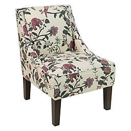 Skyline Furniture Dorie Swoop Armchair in Floral