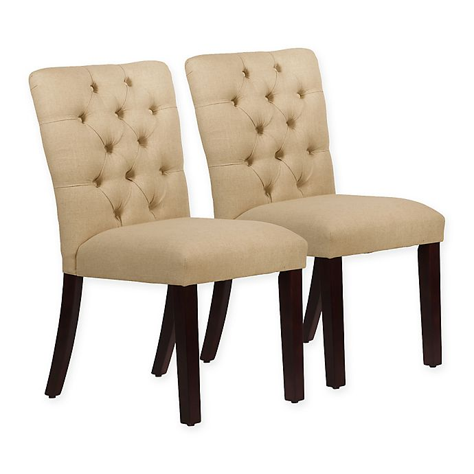 Alternate image 1 for Skyline Furniture Sherwood Tufted Dining Chairs in Linen Sandstone (Set of 2)