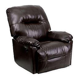 Flash Furniture Bentley Rocker Recliner in Brown