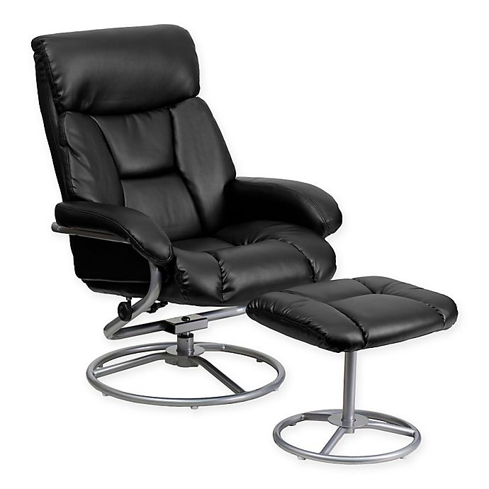 Flash Furniture Contemporary Leather, Flash Furniture Recliner Chair With Ottoman