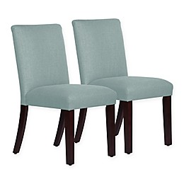 Skyline Furniture Monteagle Dining Chair in Linen Seaglass