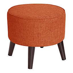 Skyline Furniture Brooker Round Ottoman in Atomic Fabric