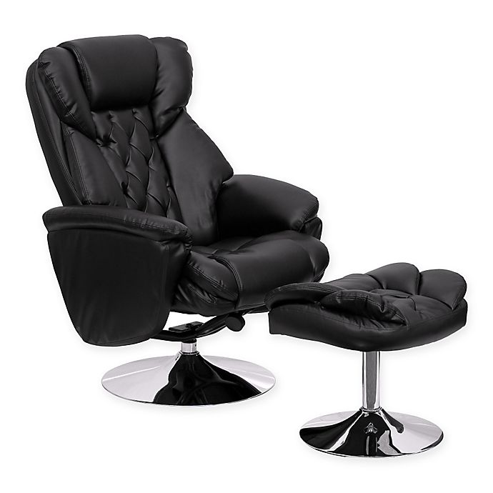 Flash Furniture Transitional Recliner, Flash Furniture Recliner Chair With Ottoman