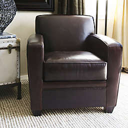 Elements Dexter Leather Club Chair in Cappuccino