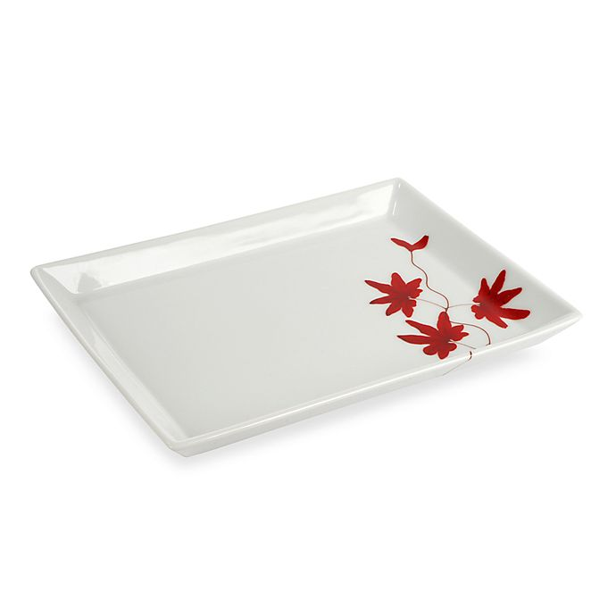 Alternate image 1 for Mikasa® Pure Red 8-Inch Rectangular Tray