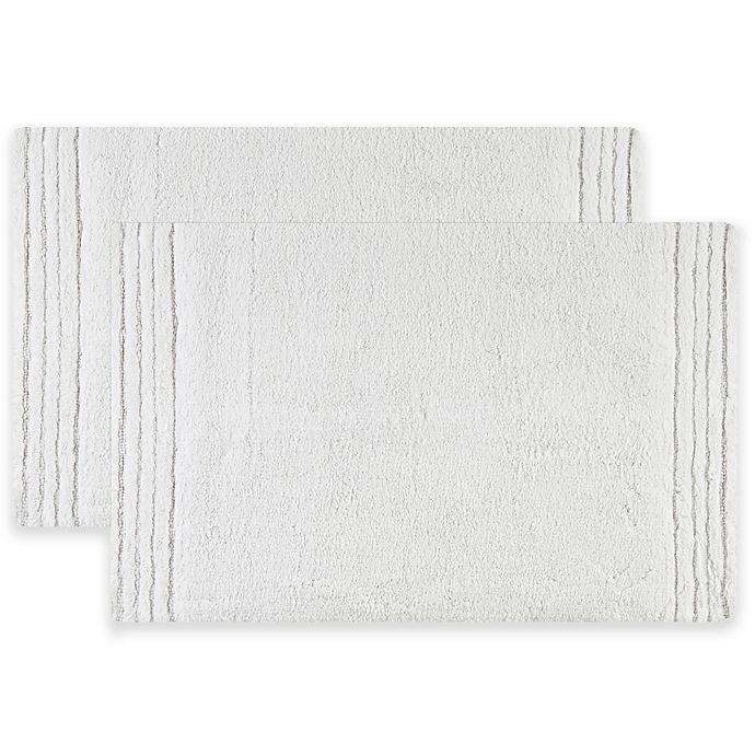 Alternate image 1 for Safavieh Pencil Stripe Bath Mats in Navy (Set of 2)