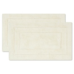Safavieh Double Frame Bath Mats in Natural (Set of 2)