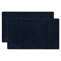 Safavieh Resort Plush Bath Mats in Navy (Set of 2)