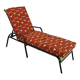 NCAA University of Texas 3-Piece Chaise Lounge Cushion