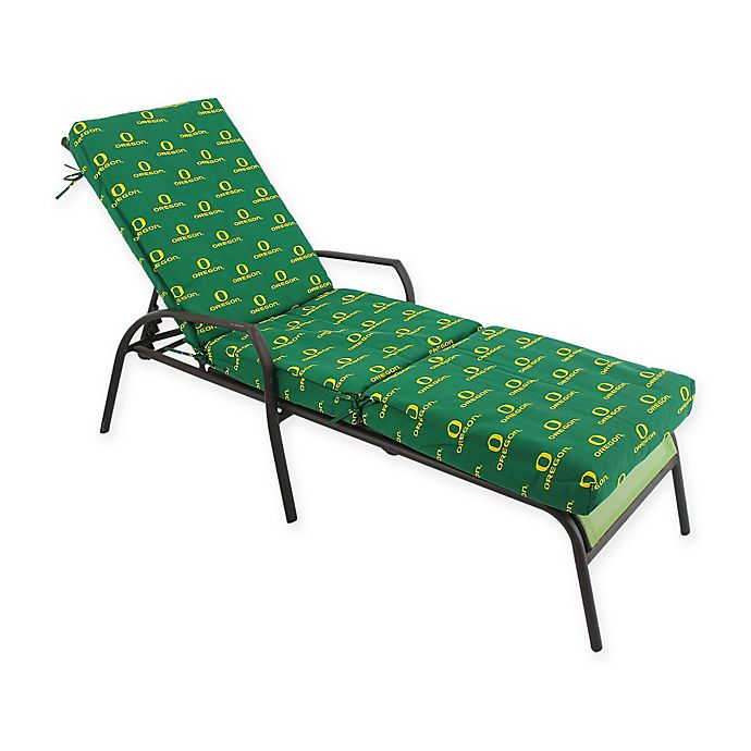 Alternate image 1 for NCAA University of Oregon 3-Piece Chaise Lounge Cushion