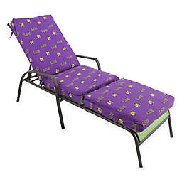NCAA Louisiana State University 3-Piece Chaise Lounge Cushion