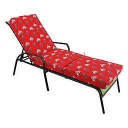 NCAA Ohio State University 3-Piece Chaise Lounge Cushion