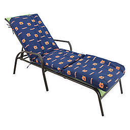 NCAA Auburn University 3-Piece Chaise Lounge Cushion