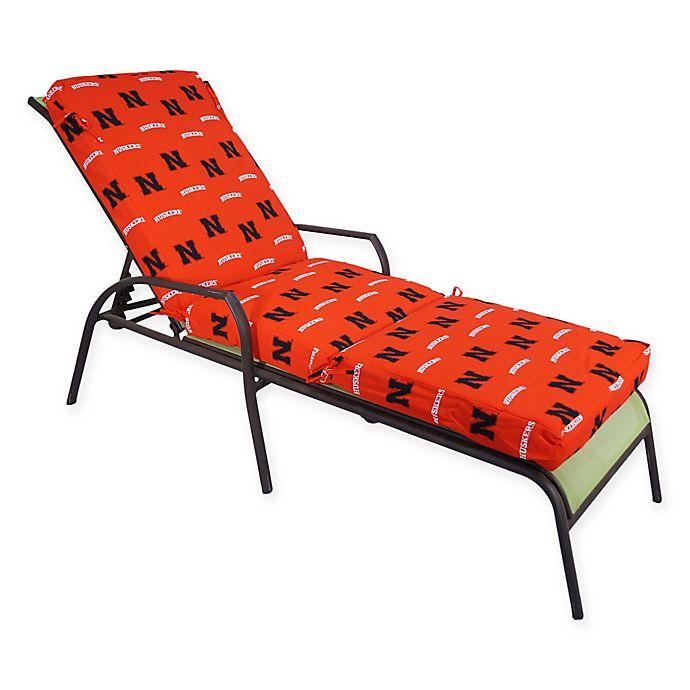 Alternate image 1 for NCAA University of Nebraska 3-Piece Chaise Lounge Cushion