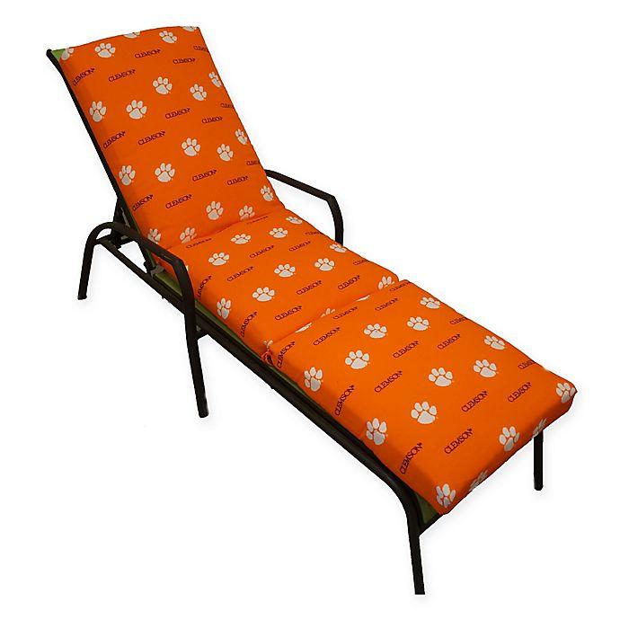 Alternate image 1 for NCAA Clemson University 3-Piece Chaise Lounge Cushion