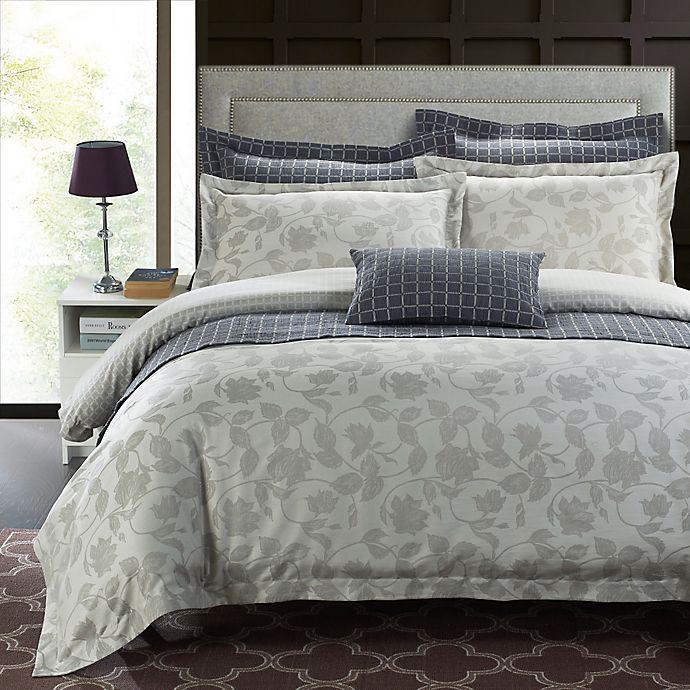 Secret Garden Duvet Cover Set In Silver Grey Bed Bath Beyond
