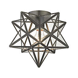 Sterling Industries 1-Light Moravian Flush Mount