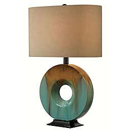 Kenroy Home Sesame Table Lamp in Teal
