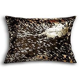Torino Scotland Cowhide Square Throw Pillow