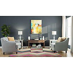 Contemporary Bold Chevron Living Room