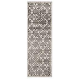 Safavieh Amherst 2-Foot 3-Inch x 11-Foot Clove Indoor/Outdoor Area Rug in Grey/Light Grey