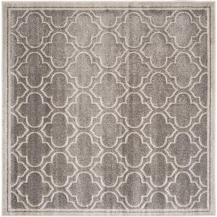 Alternate image 1 for Safavieh Amherst 9-Foot x 9-Foot Clove Indoor/Outdoor Area Rug in Grey/Light Grey