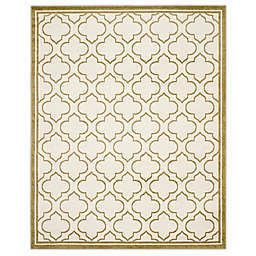 Safavieh Amherst 9-Foot x 12-Foot Clove Indoor/Outdoor Area Rug in Ivory/Light Green