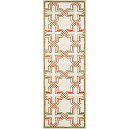 Safavieh Amherst 2-Foot 3-Inch x 7-Foot Derry Indoor/Outdoor Area Rug in Ivory/Light Green