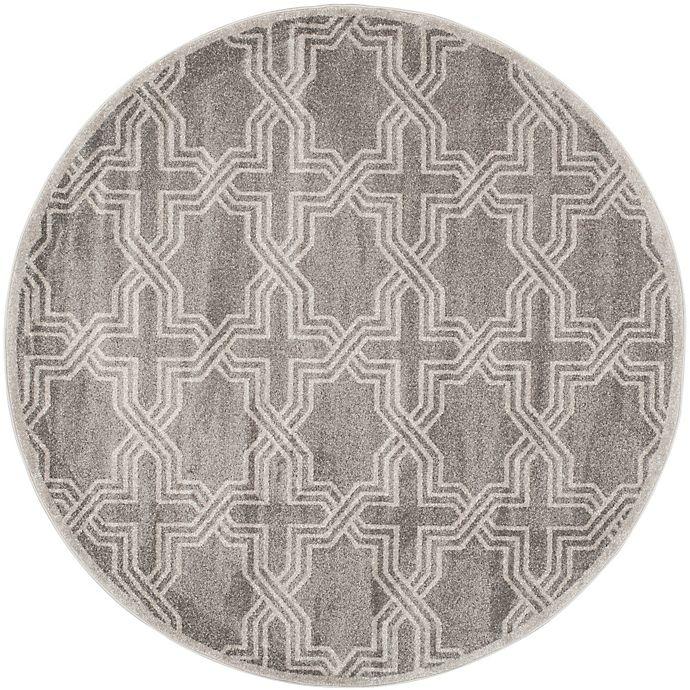 Alternate image 1 for Safavieh Amherst 7-Foot x 7-Foot Derry Indoor/Outdoor Area Rug in Grey/Light Grey
