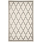 Safavieh Amherst 4-Foot x 6-Foot Quake Indoor/Outdoor Area Rug in Ivory/Grey