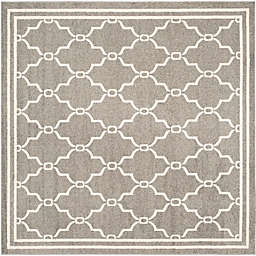 Safavieh Amherst 7-Foot x 7-Foot Quake Indoor/Outdoor Area Rug in Dark Grey/Beige